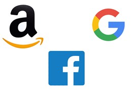 Amazon Facebook Google Loggor